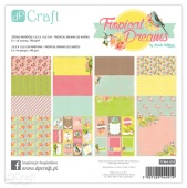 "Набор бумаги DP Craft Paperology ""TROPICAL DREAMS"" 15,2х15,5 см. 32 листа"